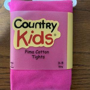 Girls Cotton Tights - 3-5yrs